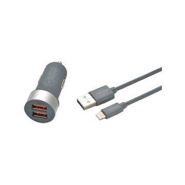 تصویر شارژ فندکی  ترتل برند  + کابل Micro USB