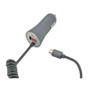 تصویر شارژر فندکی ترتل برند با کابل مایکرو  USB متصل