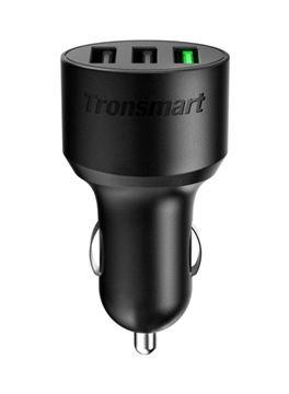 تصویر شارژر فندکی ترنسمارت با 3 خروجی USB