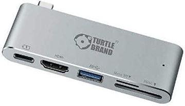 تصویر هاب چند منظوره  ترتل برند- Type C -با خروجی HDMI
