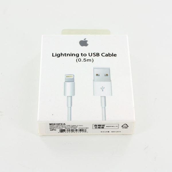 تصویر کابل اپل تبدیل لایتنینگ به USB مدل A1480 - اوریجینال-متر 0.5