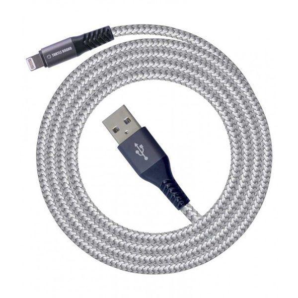 تصویر کابل ترتل برند  USB -لایتنینگ- با روکش نایلونی بافته شده-1.8 متر