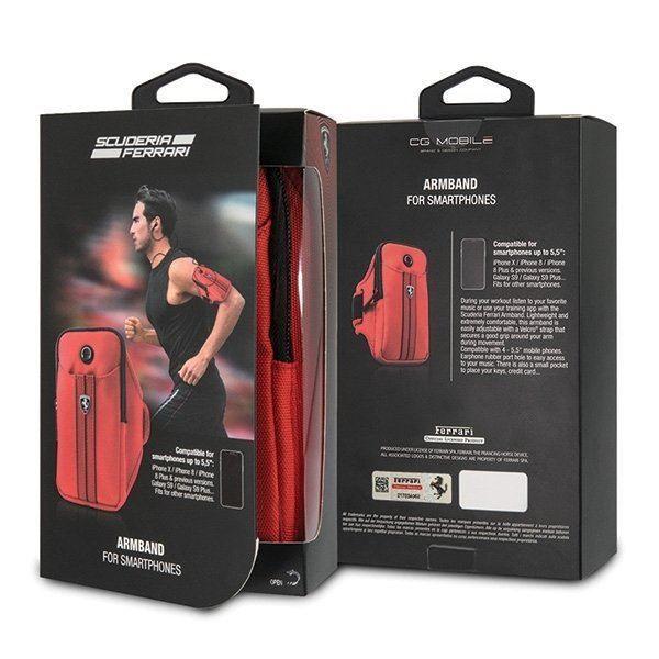 تصویر کیف موبایل بازوبند ورزشی فراری- قرمز