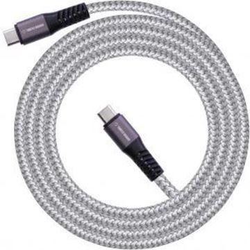 تصویر کابل ترتل برند  USB -- با روکش نایلونی بافته شده-Type C به Type C
