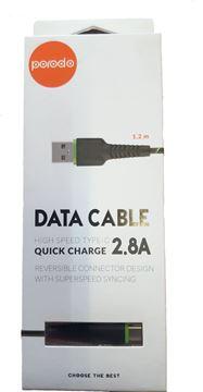 تصویر کابل پرودو  Type C -USB- متر 1.2-شارژ فوق سریع- High Speed- Quick Charge