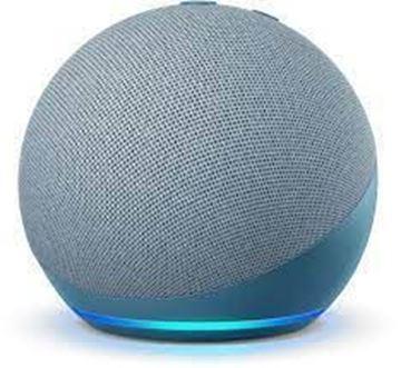 تصویر اسپیکر هوشمند آمازون نسل 4-آبی  Amazon Echo Dot 4th generation Smart Speaker + Alexa
