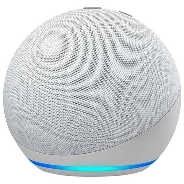 تصویر اسپیکر هوشمند آمازون نسل 4-سفیدAmazon Echo Dot 4th generation Smart Speaker + Alexa