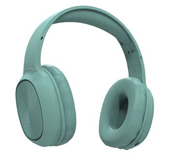 تصویر هدفون بی سیم پرودو-سبز Soundtec Pure Bass FM