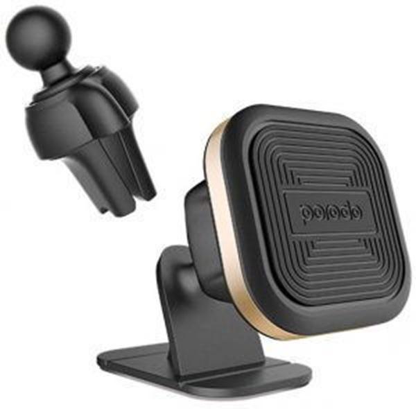 تصویر پایه نگهدارنده آهنربایی پرودو - طلاییMagnetic Car Mount (Air Vent + Stick-On Holder)