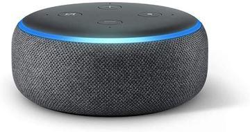 تصویر اسپیکر هوشمند آمازون نسل 3-خاکستری زغالی Amazon Echo Dot 3th generation Smart Speaker Charcoal gray + Alexa