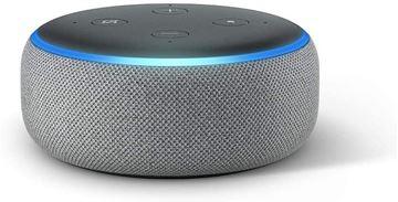 تصویر اسپیکر هوشمند آمازون نسل 3-خاکستری هدر  Amazon Echo Dot 3th generation Smart Speaker Heather Gray+ Alexa