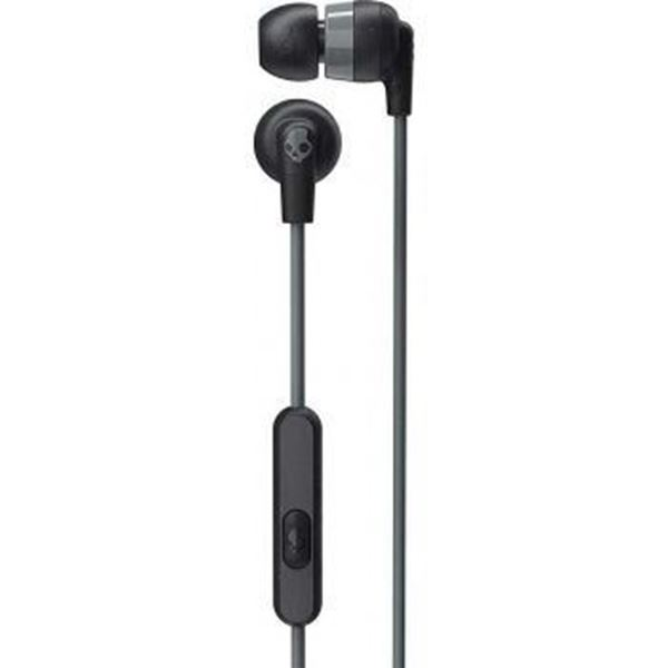 تصویر هندزفری با سیم Inked plus  اسکال کندی-مشکی/خاکستری - Skullcandy Inkd+ In-Ear Headphones with Mic -Black/Gray