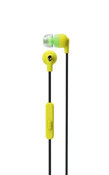 تصویر هندزفری با سیم Inked plus  اسکال کندی-زرد --Skullcandy Inkd+ In-Ear Headphones with Mic-Yellow