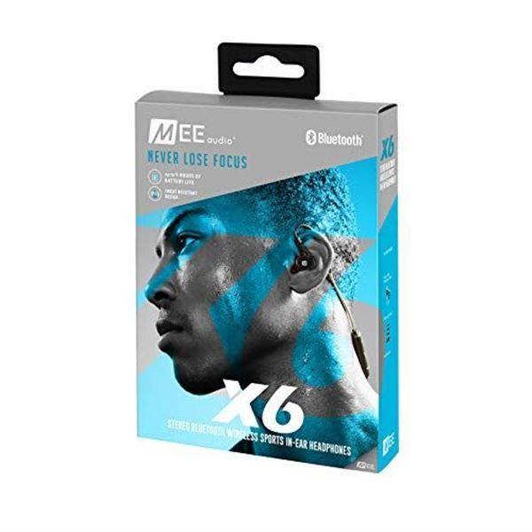 تصویر هندزفری بلوتوث می آدیو X6 -نسل دوم- مشکی -  MEE Audio X6 Stereo 2nd Generation Bluetooth Wireless Sports In-Ear Headphones - Black