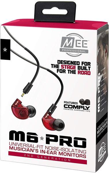 تصویر هندزفری  می آدیو M6 Pro با کابلهای جداشدنی-قرمز MEE Audio M6 Pro Musicians' 2nd Generation In-Ear Monitors Headphones - Red