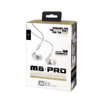 تصویر هندزفری  می آدیو M6 Pro با کابلهای جداشدنی-شفاف  MEE Audio M6 Pro 2nd Generation In-Ear Monitors Headphones -Clear