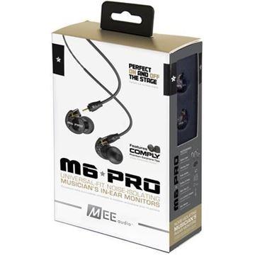 تصویر هندزفری  می آدیو M6 Pro با کابلهای جداشدنی -مشکی MEE Audio M6 Pro Musicians' 2nd Generation In-Ear Monitors Headphones - Black