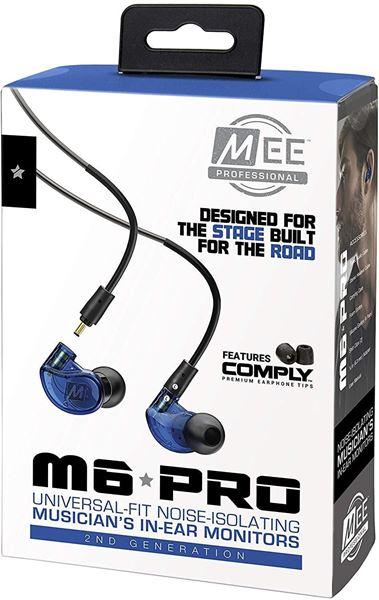 تصویر هندزفری  می آدیو M6 Pro با کابلهای جداشدنی-آبی  MEE Audio M6 Pro Musicians' 2nd Generation In-Ear Monitors Headphones -Blue