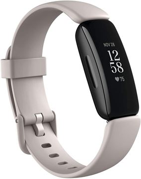 تصویر مچ بند هوشمند فیت بیت اینسپایر 2- سفید/مشکی  Fitbit Inspire 2 Fitness Wristband with Heart Rate Tracker - Lunar White/Black