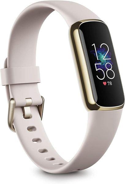 تصویر مچ بند هوشمند فیت بیت لوکس- طلایی/سفید Fitbit Luxe Fitness and Wellness Tracker - Soft Gold/White