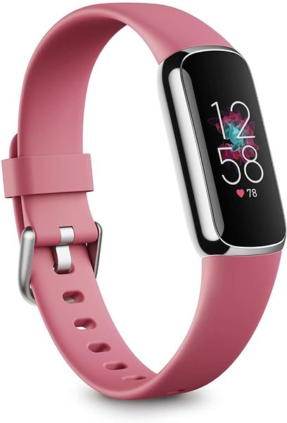 تصویر مچ بند هوشمند فیت بیت لوکس- پلاتینیوم/ارکیده Fitbit Luxe Fitness and Wellness Tracker Platinum/Orchid